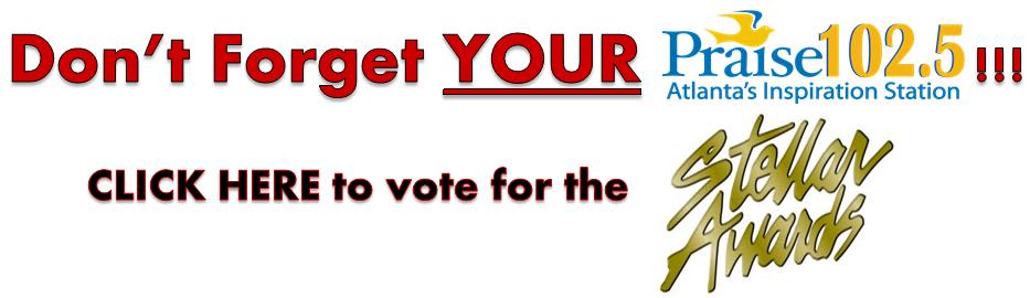 Stellar Awards Vote banner