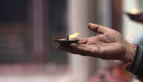 Kashmiri Pandit Pray At Mata Kheer Bhawani In Srinagar