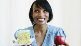 Woman Making Diet Choices
