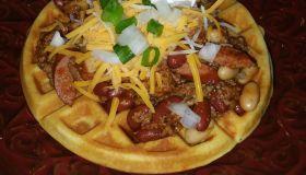 Cornbread Waffles and Chili