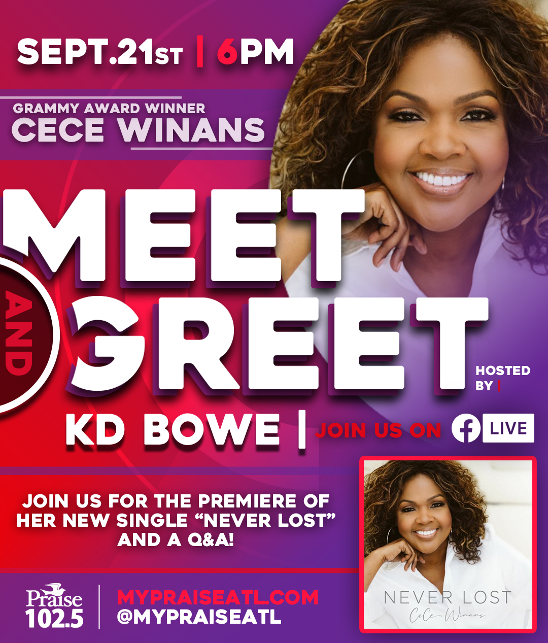 CeCe Winans meet and great